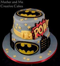 Batman Cake by Mother and Me Creative Cakes, cake makers Hemel Hempstead Batman Birthday Cakes, Batman Cakes, Batman Party, Fondant Cakes, Cupcake Cakes, Cupcakes, Superhero Cake, Character Cakes, Cake Makers