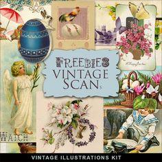 Far Far Hill: Freebies Vintage Easter Cards