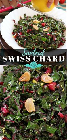 A simple recipe to highlight this delicious and nutritious vegetable! The Swiss Chard is sauteed in olive oil with tons of garlic and made zesty with some lemons! Perfect as a vegetable side dish to your fish or meat. | www.foxyfolksy.com #FoxyFolksyRecipes #vegetabledish #swisschard #vegan Cooking Swiss Chard, Sauteed Swiss Chard, Swiss Chard Recipes, Side Dish Recipes, Veggie Recipes, Healthy Vegetables, Eating Raw, Vegetable Side Dishes, Clean Eating Recipes