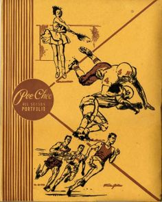 Old-school Pee Chee folders. Iconic sports images by illustrator Francis Golden, plus empty space good for doodling.