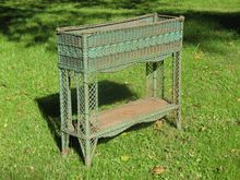 Rare Antique Victorian Wicker Fernery
