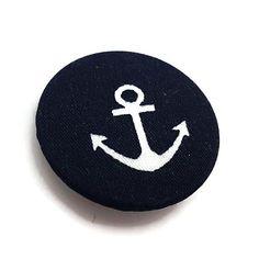 Anchor Pin-Nautical Pin-Anchor Badge-Lapel Pin-Navy Pin-Sailor