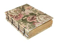 Romantic Rose Coptic Bound Journal by Thenibandquill on Etsy,