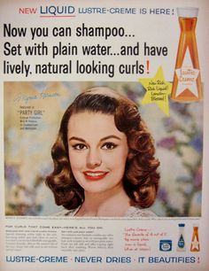vintage shampoo ads | 1958 Lustre Creme Shampoo Vintage Advertisement by RelicEclectic