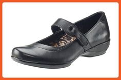 39edf694d03 Aetrex Women s Theresa Black Leather 9.5 W US - Loafers and slip ons for  women (