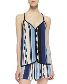 Ocean Striped Tank Top by Ella Moss at Neiman Marcus.