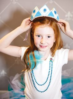 princess fashion with a cookie crown