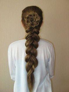 flower braids ....that's A LOT of hair!