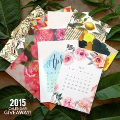 Read More: http://www.stylemepretty.com/living/2014/12/29/a-2015-calendar-giveaway/