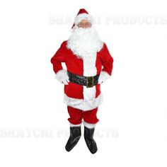 Enjoy a little luxury at any festive fancy dress with this Premium Style Santa Suite This costume is of particularly high quality, with faux fur trim and royal red colour, Santa himself would be happy to wear such a brilliant set! Party Supplies Uk, Christmas Fancy Dress, Santa Costume, Santa Suits, Royal Red, Christmas Costumes, Father Christmas, White Gloves, Line Jackets