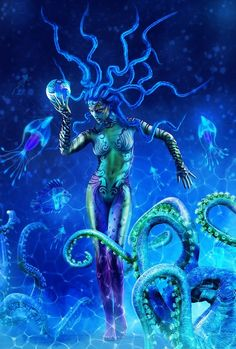"<3 Creative Fashion Photography ~ Beautiful Blue, ""Octopus"" <3"