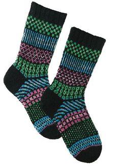 Ravelry: Simple Stripes Fair Isle Socks pattern by Kathleen Taylor Crochet Socks, Knitting Socks, Hand Knitting, Knitting Patterns, Knit Socks, Knitted Slippers, Ravelry, Fair Isle Pattern, Mittens Pattern