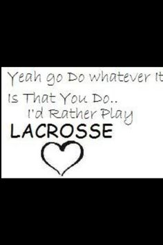 For lacrosse lovers