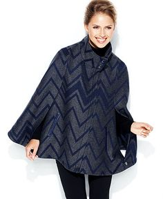 I WANT- Anny Klein Cape Coat