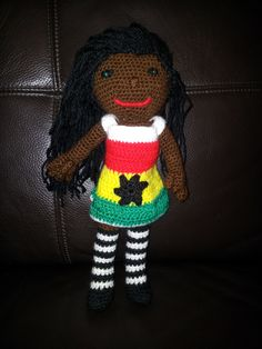 Ethel - The Ghanaian doll - a tribute to my adopted country.