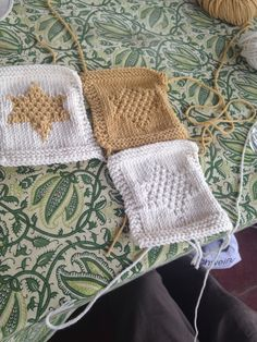 Jenny hasn't knitted for 20 years but has made textured and colour work Stars of India.