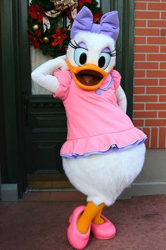 Daisy Duck in the Main Street USA plaza was the first character autograph we ever got!
