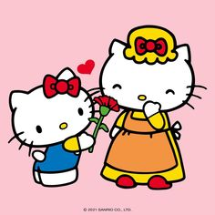 Love My Family, Sanrio, Happy Mothers Day, Cute Drawings, Diy And Crafts, Little Girls, Kawaii, Bows, Friends