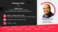 Fireside Chat with Reggie Rusan Founder & CEO of SimpleTec Solutions at Startup Grind Helsinki Make Money Online, How To Make Money, African Market, Program Management, Company News, Data Protection, Fireside Chats, Helsinki, Startups