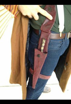 Hand crafted and hand sewn wand Holster for all of your wand slinging needs. Snap back front and key detail. Adjustable straps for around the thigh. Crafted with high quality faux leather, animal friendly. Thanks for looking