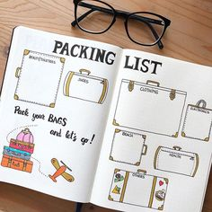 Ultimate List of Bullet Journal Ideas: 101 Inspiring Concepts to Try Today (Part. Ultimate List of Bullet Journal Ideas: 101 Inspiring Concepts to Try Today (Part – Simple Life Bullet Journal Travel, Travel Journal Pages, Bullet Journal 2020, Bullet Journal Notebook, Bullet Journal Spread, Bullet Journal Inspo, Bullet Journal Layout, Bullet Journal Packing List, Travel Journals
