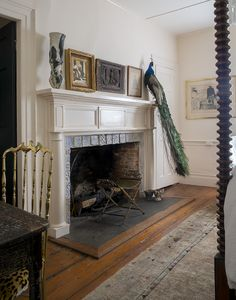 Sag Harbor, NY.  Having a little fun decorating this late federal mantel.