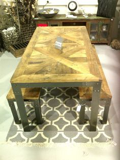 Parquetry table - love it