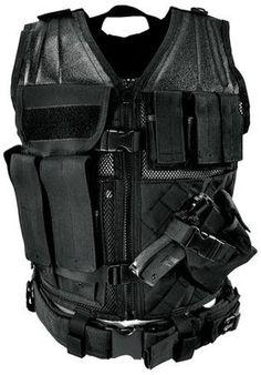 $48 NcStar Tactical Vest Black Regular Military Special Forces SWAT Police Hunting | eBay