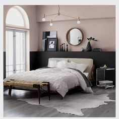 27 Ideas bedroom paint ideas accent wall grey bathroom for 2019 Bedroom Black, Wood Bedroom, Bedroom Decor, Bedroom Ideas, Bedroom Yellow, Bedroom Lighting, Mirror Bedroom, Bedding Decor, Decor Room