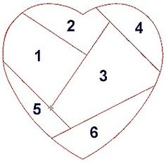 quilting paper piecing patterns - imagination - Valentines Day cushion patches maybe ?