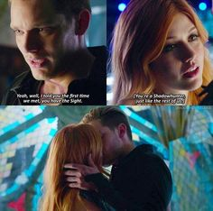 LOOK AT HER LOOKING AT HIS LIPS SHE IS SO ENTRANCED BY HIM LOVE CLACE