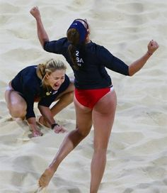 Misty May and Kerri Walsh. Beasts.