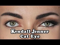 """Hey guys! This is an How To tutorial, for creating a """"Kendall Jenner"""" cat eye…"""