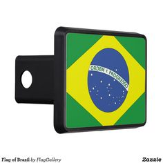 Flag of Brazil Tow Hitch Cover