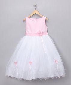 Look at this #zulilyfind! Pink Rose Party Dress - Infant & Girls #zulilyfinds