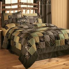 Cabela's: Camo Patchwork Quilt Sets trying to decide if I could indeed live with this....