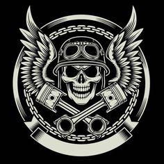 Biker Biking Helmet Wings Skull 3.5 inch Sticker Vinyl Decal Stickers die cut