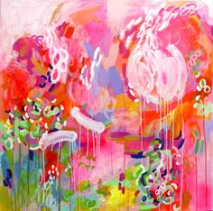 "Saatchi Online Artist: DURA HANA; Acrylic, 2012, Painting ""Watch Me Dance, Laugh & Love"""