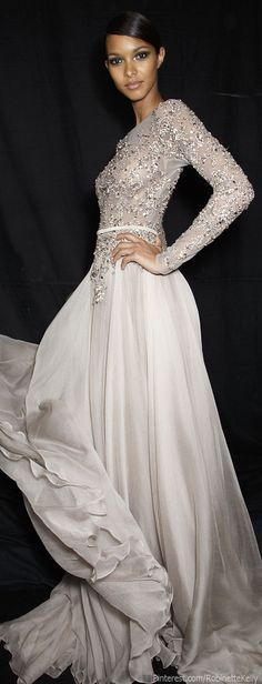 Elie Saab Haute Couture Fall/Winter 2013 Her gowns are always gorgeous! If I ever had to go on the red carpet, it would be in one of her gowns. Evening Dresses, Prom Dresses, Wedding Dresses, Formal Dresses, Dresses 2014, Quinceanera Dresses, Gown Wedding, Short Dresses, Bridesmaid Dresses