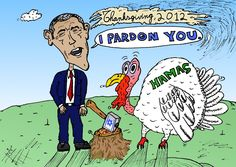 President Obama Pardons Hamas Thanksgiving Turkey From Israeli Ax