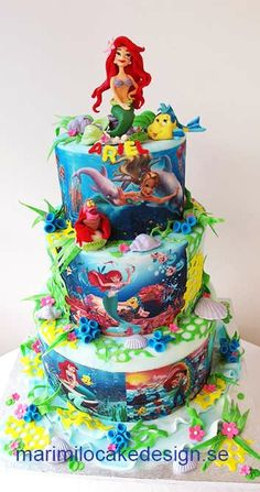 Bolo Pequena Sereia Cake creations Pinterest Cake Mermaid