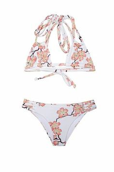 The perfect triangle top bikini. Double straps, and fully adjustable. Criss cross strings on lateral / bottom. Girls Bathing Suits, Two Piece Swimwear, Our Girl, These Girls, Two Pieces, Bikini Girls, Summer Time, One Piece, Bikinis