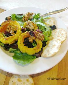 Delicata Squash and Salad from Makeminelemon.com