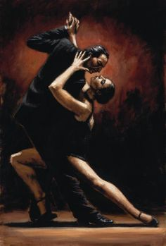 Fabian Perez - Love of Tango  Dance ... the expression of Life!