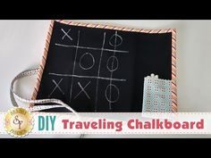 DIY Traveling Chalkboard | with Jennifer Bosworth of Shabby Fabrics - YouTube Chalkboard Fabric, Diy Chalkboard, Sewing Projects For Kids, Crafts For Kids, Diy Projects, Craft Tutorials, Sewing Tutorials, Sewing Ideas, Craft Ideas
