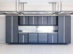Before and after photos of Garage Living projects. Transform your garage. Garage Cabinet Systems, Garage Cabinets, Garage Doors, Garage Organisation, Garage Storage, Modular Storage, Storage Organization, Garages, Ultimate Garage