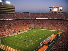 Neyland Stadium in the Fall.  Seats: 100,011.  Neyland Stadium broke ground in 1921 and was named Shields-Watkins Field. The stadium was renamed in 1962 for General Robert Neyland who served in the U.S. Army, as Volunteers head coach for numerous spells between 1926 and 1952, and was the designer of the revamped stadium. As of 2010, it is the ninth largest non-racing stadium in the world.