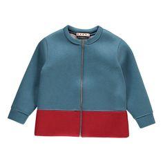 Marni Two-Tone Neoprene Dress Petrol blue