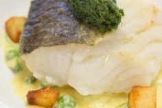 Line caught cod with a herb crust and tartare cream sauce recipe by Essential Cuisine Cod Recipes, Cooking Recipes, Cream Sauce Recipes, Best Chef, Mashed Potatoes, Herbs, Ethnic Recipes, Food, Kitchens