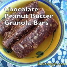 Anktangle: Chocolate Peanut Butter Granola Bars: Gluten-Free, Sugar-Free, and Vegan!